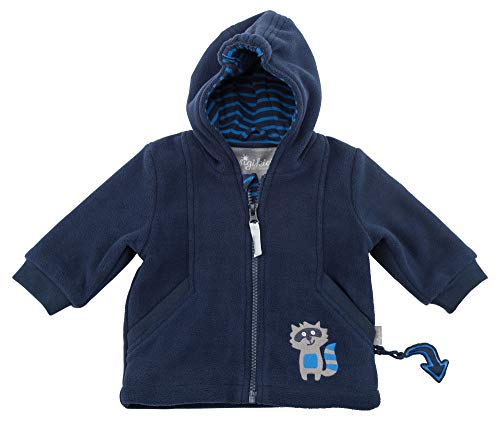 Sigikid Baby-Jungen Fleece Jacke, Blau (Blau (Mood Indigo 275) 275), 62