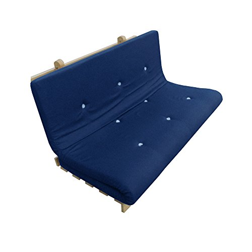 My Layabout Solid memory Foam Futon Mattress | Roll Out/Fold up Guest Bed | 10 Colours | 3 Sizes. (Double | 190cm x 125cm, Royal Blue)
