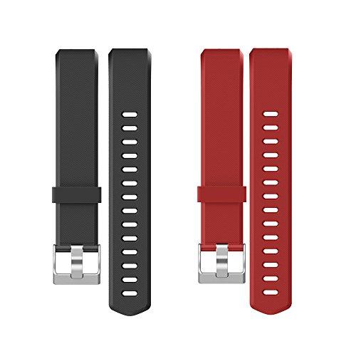 YAMAY Correas Reemplazables para Pulseras de Actividades SW333 (Negro + Rojo)
