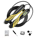 Electronic Counting Jump Rope, Fitness Rope with Calorie Counter, Adjustable Digital Jump Rope,...