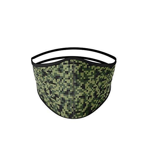 mascarilla tela homologada Talla ADULTO hombre - Verde camuflaje pixel...