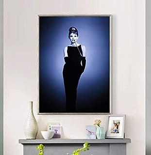 HULATANG Audrey Hepburn's Beautiful Girl Poster Pintura Mural Bar Restaurante Hotel Cafe decoración del hogar Pintura 42X60cm sin Marco