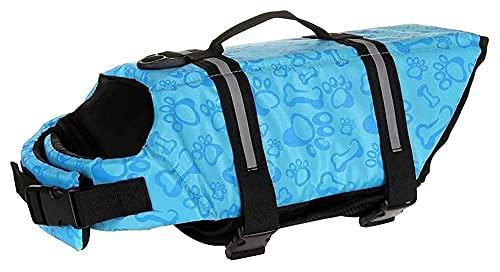 Superior flotabilidad Perro Salvavidas Chaleco Ripstop Chalecos de Seguridad Reflectante Chaqueta de Salvavidas para Mascotas Ropa al Aire Libre para Perros Traje de baño (Color : Blue, Size : XXL)