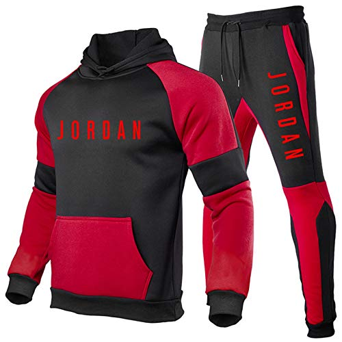 Smkenor Trainingsanzug-Set Für Herren Jordan 23# Hoodie Top Bottoms Jogging Jogger Gym Sport Trainingshose (S ~ 3XL)
