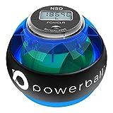 Powerball NSD 280Hz Palla per Esercizi di Riabilitazione e Potenziamento della Avambraccio | Allenatore per la Forza di Presa | Esercizi Isometrici (con contatore Digitale)