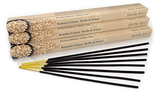 Luxflair Lot de 10 paquets de 8 bâtonnets d'encens Benzoe, XL - Longue durée de combustion d'environ 45 minutes