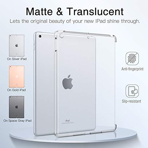 Dadanism Kompatibel mit iPad 8. Generation 2020/iPad 7. Generation 2019 Hülle, Translucent Hart Schutzhülle Schale Ultra Slim Case Cover Ersatz für iPad 10,2