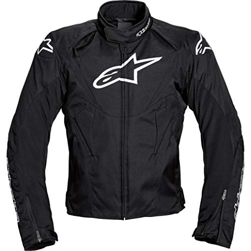 Alpinestars Motorradjacke mit Protektoren Motorrad Jacke T-Jaws WP Textiljacke schwarz XXL, Herren, Sportler, Ganzjährig