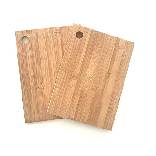 FDSJKD Conjunto de Tabla de Cortar de bambú Bambú Pizarra de bambú Conjunto Cocina Juego de Tabla de Cortar 2pc / Set