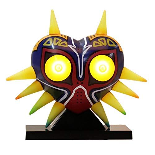 XINFAN Figura de Zelda Máscara de Majora Máscara de Zelda Majoras con lámpara de Mesa de luz Juguete Figura de PVC Modelo Coleccionable