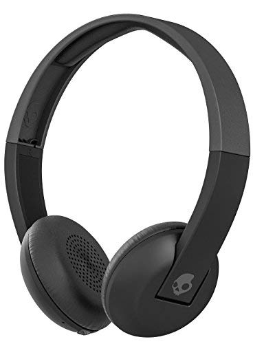 Skullcandy Uproar Bluetooth Wireless On-Ear Headphones with Built-in Microphone and Remote, 10-Hour Rechargeable Battery, Soft Synthetic Leather Ear Pillows for Comfort, Black