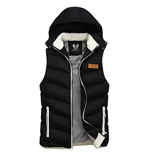 SHANGYI herenjack, mouwloos vest, wintervest, warme vest, heren, casual gewatteerd vest