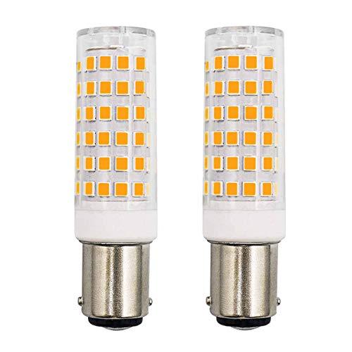 B15d LED lampe Dimmbare Ersetzt 50W 60W Warmweiß 6W 570Lumen 220V 230V 3000K Schlafzimmer Wandleuchte Wohnzimmer Kronleuchter Nähmaschinenlampe Leuchtmitteln 2er Pack [MEHRWEG]