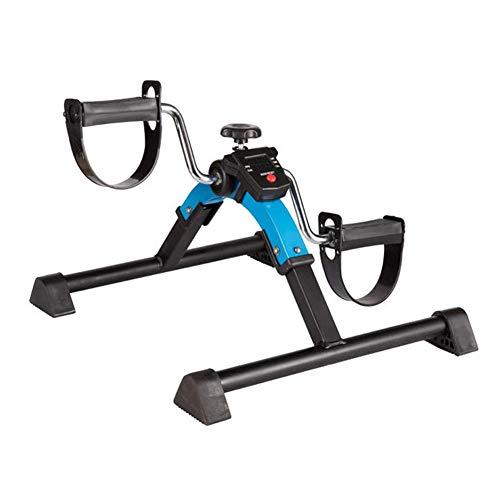 HLEZ Mini Heimtrainer, Armtrainer und Beintrainer Faltbarer Fahrradpedaltrainer für Muskelaufbau Ausdauertraining Mini Bike Heimtrainer Beine Arme