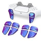 PlayVital 2 Pares de Gatillo Extensor para PS5 Control Accesorios Extensores de Disparo Mejora del Juego Gatillos Bumper Trigger para Playstation 5 Mando Grips Extender Botón para PS5-Azul a Violeta