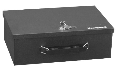 Honeywell Safes & Door Locks - 6104 Fire Resistant Steel Security Safe Box with Key Lock, 0.17-Cubic Feet, Black