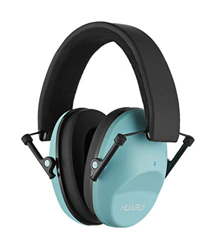 Huarui Noise Cancelling Ear Muffs for Shooting Hunting, Adjustable Shooting Ear Muffs,Shooters Ear Protection Safety Ear Muffs, Lightweight Ear Muffs Noise Protection (Lake Blue)
