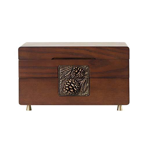 Uhrenbox Holz Kosmetisches Aufbewahrungsbehälter, Große Kapazität Schmuckschatulle, Desktop-Regal, Schminktisch, for Halskette, Ring, Armband, Souvenirs, 30x20.1x17.6cm