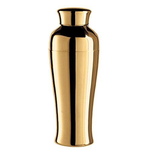 Oggi Plated Mirror Finish Tall & Slim Cocktail Shaker, 0.75 L/26 oz, Titanium