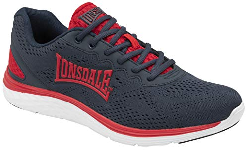 Lonsdale Lisala 2, Scarpe per Jogging su Strada Uomo, Blu Navy, Rosso, 40.5 EU