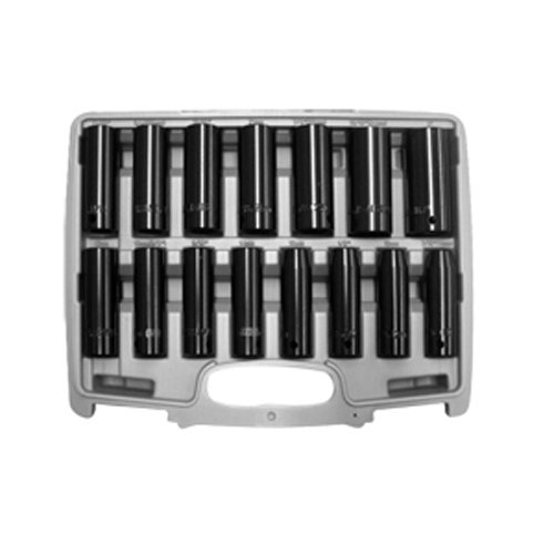 Neiko Heavy Duty 15-Piece 1/2-Inch Drive Deep Duometric Air Impact Socket Set