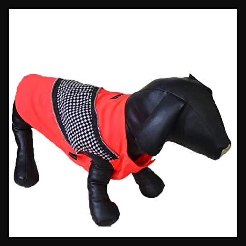 Zap Impex Racer Blok Print Comfy Neon T-Shirt met Rits voor Honden, XL