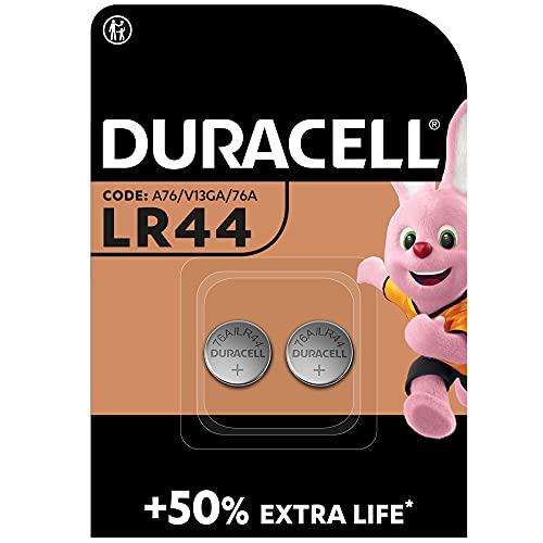 Duracell Pilas especiales alcalinas de botón LR44 de 1.5 V, paquete de 2 unidades 76A/A76/V13GA, diseñadas para su uso en...