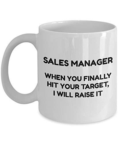 Sales Manager Koffiemok - Wanneer u eindelijk uw doel raakt, zal ik het verhogen - Keramische witte nieuwigheid koffiemok