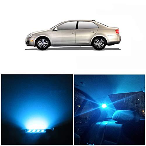 WLJH Lot De 9 Ampoules Led Kit Super Glace Bleue Lumineuses Canbus Sans Erreur 2835 Puces Pour éClairage IntéRieur De Voiture Pour Jetta Mk5 Mkv 5 Berline 2005-2010
