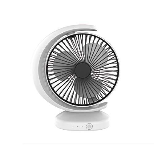 XOSHX Mini Ventilador eléctrico Ajuste de 3 Archivos Escritorio Superficie Silencio Cargador...