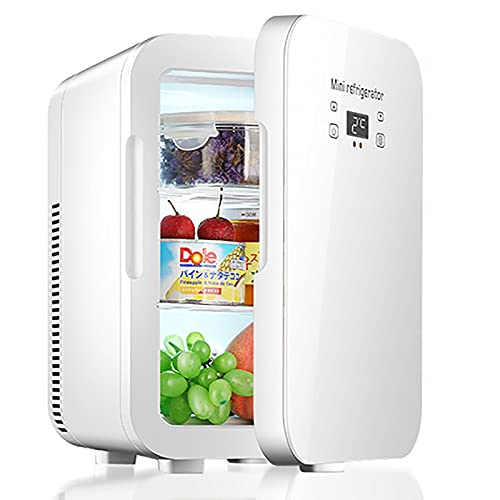 Mini Nevera Portátil 12 L Con Control De Temperatura Doble Núcleo Pantalla Digital Refrigerador De Coche Calentamiento Cosmético De Alimentos Y Enfriador De Enfriamiento Para Coche/Camping/Viaje