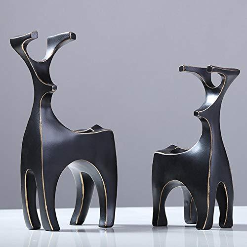 Sculpturen Beeldjes Abstractie Geometrie Herten Hars Kandelaar Decoratie Woonkamer Desktop Romantische Ornamenten Valentijnsdag Geschenk