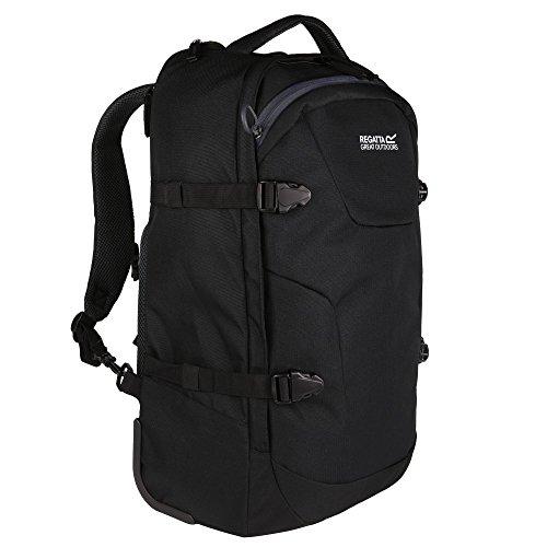 Regatta Paladen Carry On Convertible Wheel Backpack Bag (35 Litres) (Black/Ebony)