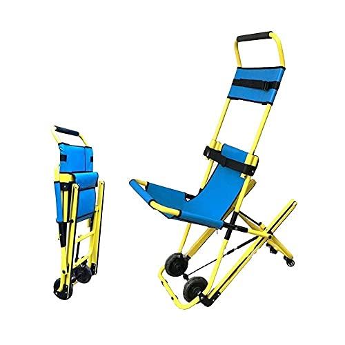 Dream ZX Escalera Plegable portátil Bombero de Ambulancia Silla de Escalera elevadora médica de evacuación con Hebillas de liberación rápida para Ancianos, Discapacitados (Color : Blue)