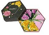 Rainbow Socks - Damen Blumen Socken Box Geschenk - 3 Paar - Weiße Rosen Lila Rosen Gelbe Blumen - Größen 36-40