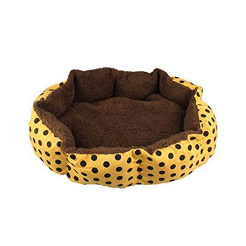 WSGJHB Hondenbed, huisdier, hond, kat, mat, kussen, rond, hondenbed, ultra zacht, katoen, velvet Verkrijgbaar in verschillende maten.