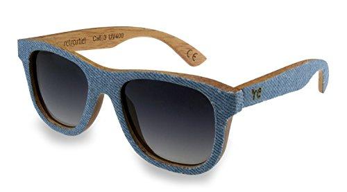 retrostiel Jeans Sonnenbrille, Holzsonnenbrille (Jeans)