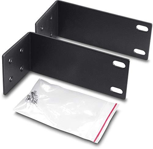 TRENDNet Rack Mount Kit, Compatible with TEG-S16Dg /TEG-S24Dg, Mount an 11 wide to a 19 Equipment rack, ETH-11MK , Black