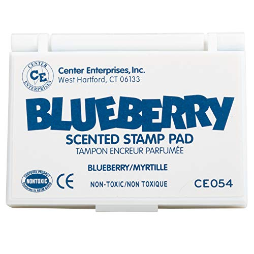 Ready 2 Learn Scented Stamp Pad - Blueberry - Blue - Non-Toxic - Fade Resistant - Fun Art Supplies for Kids (CE054)
