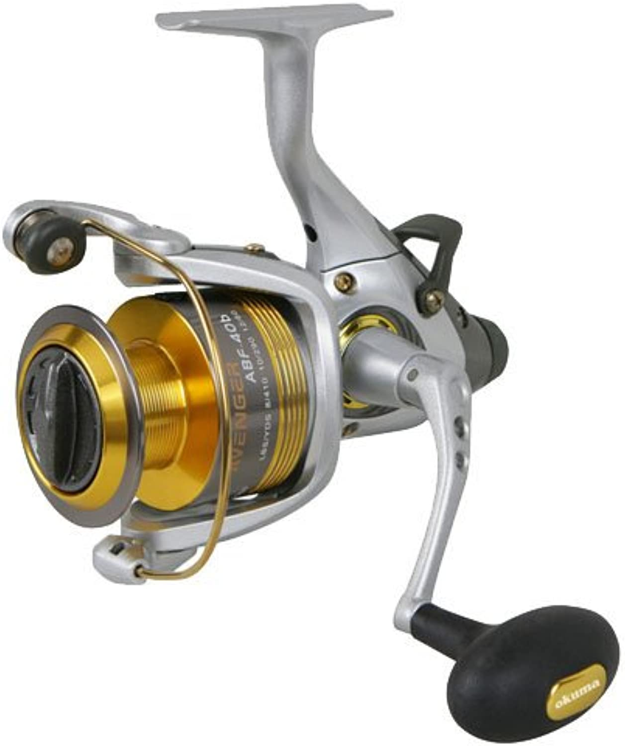 Okuma Avenger Abf BSeries Reel, 4.5 1 Gear Ratio, 6BB + 1RB Bearings, 19 lb Max Drag, 30  Line Retrieve