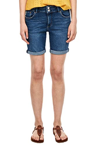 s.Oliver Damen Slim Fit: Bermuda aus Jeans Blue 46