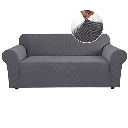 OYPY Jacquard Stretch Sofa Abdeckung für Wohnzimmer Elastisches Sofa Slipcover Sektional Couch Cover Möbel Protector 1/2/3/4 Sitzer (Farbe : Type 1 Grey, Specification : 2seater 145 190cm)