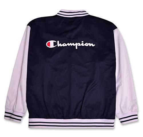 Champion Logo du Script Veste d'athlétisme interuniversitaire pour Homme X-Grand Haut Blanc Bleu...