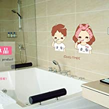 Lovely Teeth Lovers 3D Wall Sticker Home Decor Wall Decal for Living Room Bathroom Wallpaper