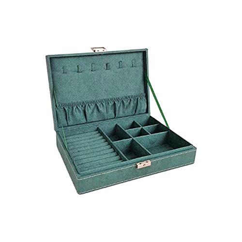 NFRADFM Caja de joyería,Caja de joyería portátil de doble capa de franela,Collares multifuncionales anillos pulsera cajas de joyería