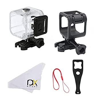 RAXPY Combination of Waterproof Housing and Frame Only Housing Only Aluminum Frame for GoPro Session 4 Session 5  Housing-Frame