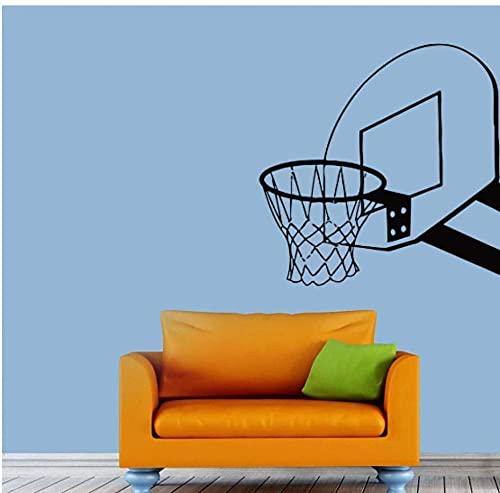Calcomanía de baloncesto para pared, calcomanía de baloncesto, pegatina de vinilo, decoración de dormitorio deportivo para niño, 72X74Cm