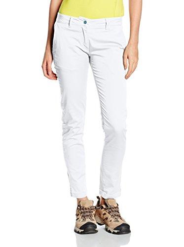 Think Pink Trekking Hose Pantalone Donna Slim Fit Raso Cotone Stretch Tinto Capo Lavato Enzimi,Tasche Francesi weiß M