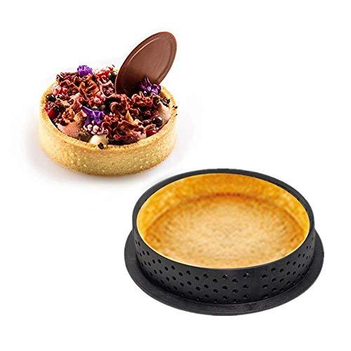 YUEKUN 10 Stück Kuchenform Mousse Tortenring Runde Dessertkuchen Dekorationswerkzeug Perforierter Backschneider DIY Backgeschirr