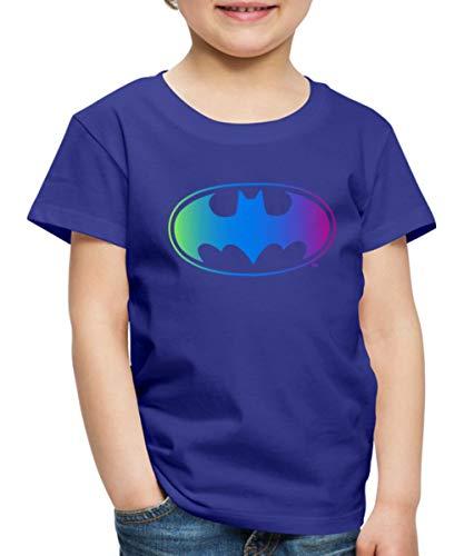 DC Comics Batman Logo Regenbogenfarben Kinder Premium T-Shirt, 110-116, Königsblau